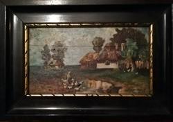 Újabb ritkaság! Keményné Gosztonyi Alice (1899-1970)festménye! Képeken látható enyhe sérüléssel!