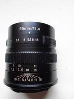 7artisans 55mm F1.4 APS-C Large Aperture Manual Focus Prime Fixed Lens for Canon EOS-M Mount Camera