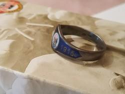 Ritkaság! Ferenc József tűzzománc világháborús gyűrű