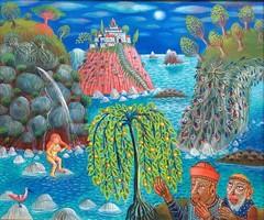 Galambos Tamás: Zsuzsanna és a Vének 50x60 cm (Keretezett)