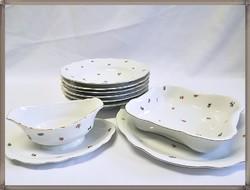Zsolnay porcelán tálaló és mély tányér készlet