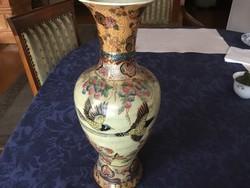 Antik váza, 36 cm-es, dúsan aranyozva (44)