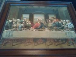 Antik szentkép az utolsó vacsora nyomat