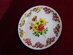 Bareuther Bavaria német porcelán kistányér, tavaszi virágcsokorral.