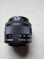 Canon EF-M 15-45mm f/3.5-6.3 IS STM MILC Széles látószögű zoom lencse Grafit 49 mm közel féláron ÚJ