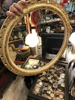 Gyönyörű tükör, 60 cm átmérőjű, szecessziós keretben, hibátlan.