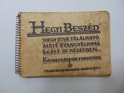 Hegyi Beszéd - Traktátus kiadás , Károli Gáspár fordítás