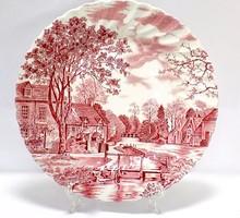 Angol porcelán lapostányér (ZAL-BI38576)