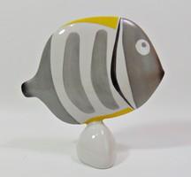Art deco kézzel festett porcelán hal Drasche
