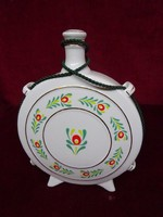 Hollóházi porcelán kulacs, 14,5 cm átmérővel.