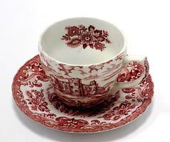 Angol porcelán csésze+alj (ZAL-BI38585)