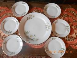 Alföldi porcelán margaréta mintás süteményes készlet 6 sz.