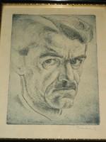 Vadon Benjámin: Önarckép, 1935