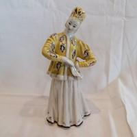 Orosz(?) porcelán táncosnő szobor