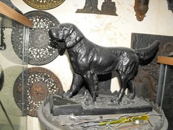 Eredeti Vasöntöde i 1890 öntöttvas Magyar Kuvasz kutya szobor múzeum i gyűjteményből