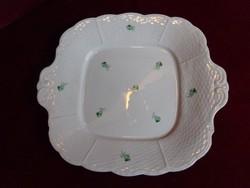 Herendi porcelán süteményes tál, 24 x 24 cm.