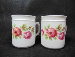 Rózsás porcelán bögre pár