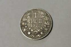 Bulgária, ritkább alumínium 1 Lev 1923.