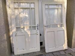 Fehér osztott fa ajtók 2db