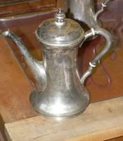 1867-1937 Bp.-i fémjeles BACHRUCH ANTAL féle EZÜST KÁVÉS,CSOKOLÁDÉS KANCSÓ 494 gramm