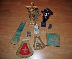 10 darab egyházi jellegű tárgy egyben eladó