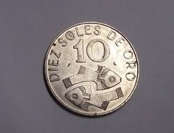 Peru 10 Sol 1969.