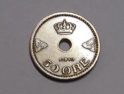 Norvégia, 50 Öre 1940.