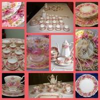 Ritka!18 személyes teás/kávés/ süteményes.ROYAL ALBERT SERENA Angol szikrázó hófehér nemes porcelán.