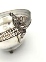 Antik ezüst kínáló női alakokkal 291 g