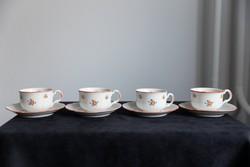 Porcelán, régi teás csésze alátéttel, számjegyes 441.