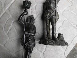Vasöntöde Ganz és TSa 1850 Eredeti öntöttvas katona gyertyatartó szobr gyűjteményből
