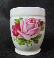 Rózsás porcelán bögre jelzett Gesch