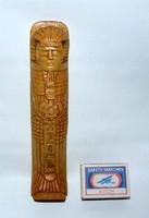Kézi faragású egyiptomi szarkofág
