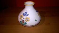 Értékbecsült Zsűrizett,iparművészeti  kivül belül mázas népi kerámia váza.
