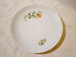 F_007 Rózsa mintás Kahla porcelán süteményes, sültes kínáló tál, tányér 28,5 cm átmérő