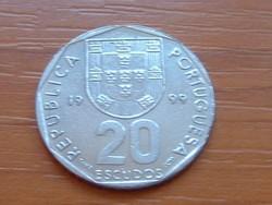 PORTUGÁLIA 20 ESCUDOS 1999 (NAGYOBB SZÁM) #