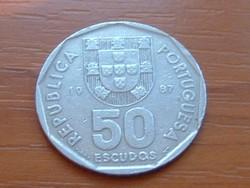PORTUGÁLIA 50 ESCUDOS 1987 VITORLÁS #