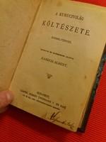 Antik kemény fedeles mini könyv  :A kurucvilág költészete