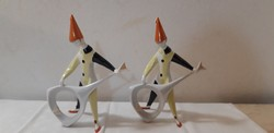 Aquincum porcelán art deco bohóc  csellista