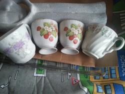 porcelán  kávés csészék együtt