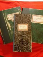Antik Nemes Imre órás és ékszerészmester Iparengedély naplófőkönyv jegyzetek,pénztárkönyv