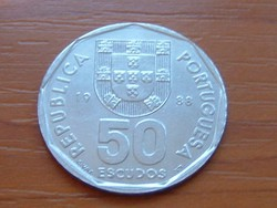 PORTUGÁLIA 50 ESCUDOS 1988 VITORLÁS #