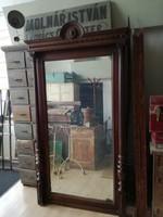 Óriási antik tükör, gyönyörű faragással loft, vintage, dekor