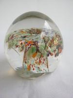 Üveg gömb levélnehezék