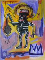 Jean Michel Basquiat: Expresszív figura egérrel - nagyon jó!