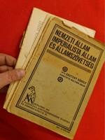 Antik politikai értekezés füzet könyv 1915 Kautsky  Károly: Nemzeti állam Imperialista állam
