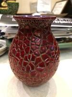 Zsolnay modern zsugormázas kis váza gyönyörű színekkel-kiváló állapotban