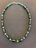 Onix-malachit nyaklánc / valódi kövek/ egyedi készítésü új
