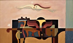 Halmy Miklós (1931 - ) Parti jelenet c. Képcsarnokos festménye 86x56cm EREDETI GARANCIÁVAL !!