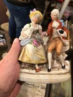 Kelet német porcelán, fiatal fiú és lány, 15 cm-es, hibátlan állapotban.